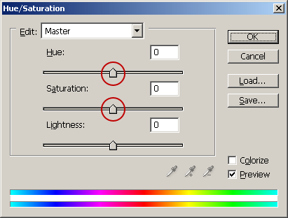 New Adjustment Layer. In the window, move the sliders Hue and Saturation until you are pleased with the result.